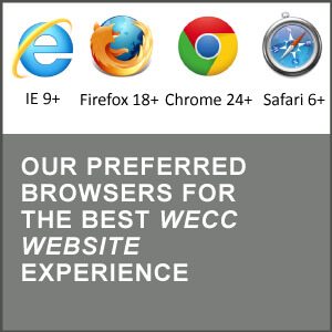 Our preferred browswer for the WECC website experience